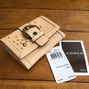 NWT Vintage Coach Swarovski Leather Wallet